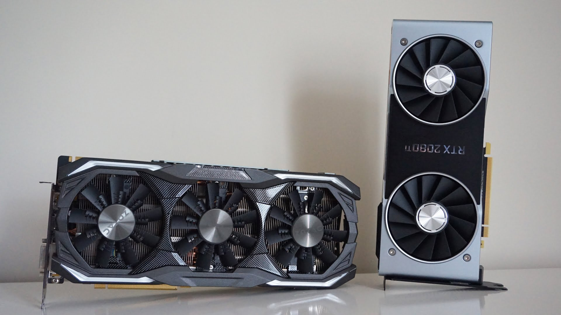 Zotac's GTX 1080 and Nvidia's RTX 2080Ti